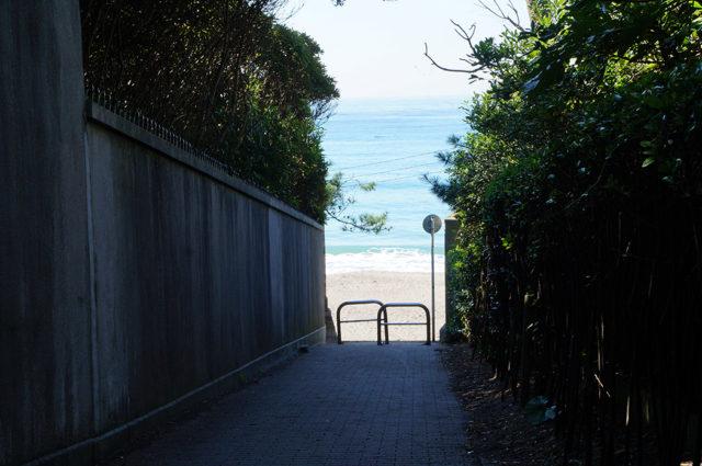一色海岸へと抜ける小道